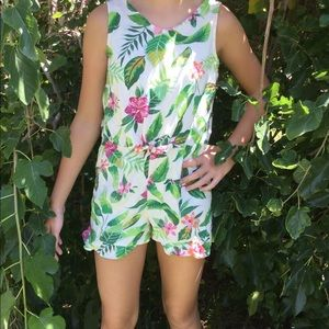 Girls tropical romper